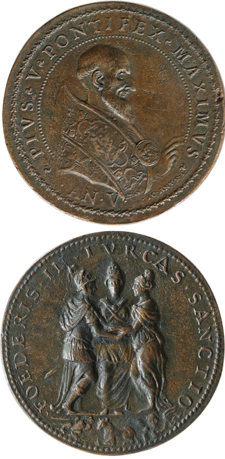 Pius V 1571 Alliance Against Turkey Medal Photo