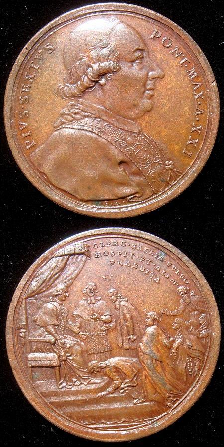 Pius VI (1775-99) Anno XXI Bronze Medal Photo