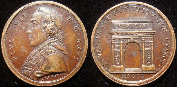 Pius VII (1800-23) Anno I Triumphal Arch Photo