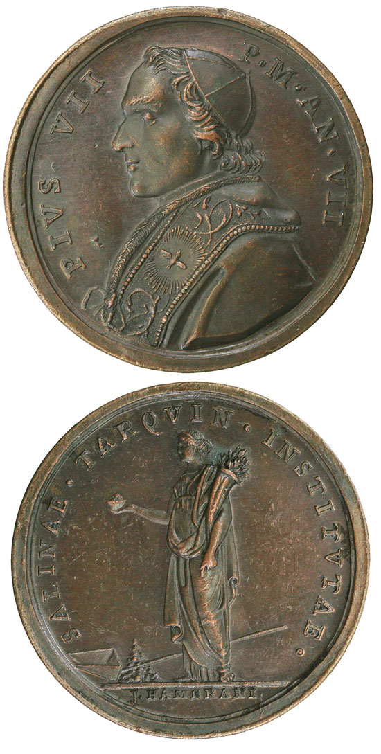 Pius VII (1800-23) Anno VII Bronze Medal Photo
