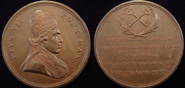 Pius VII 1800 Election Medal by Halliday Photo