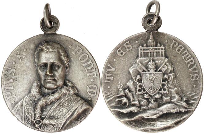 Pius X Medal Tu Es Petrus Photo
