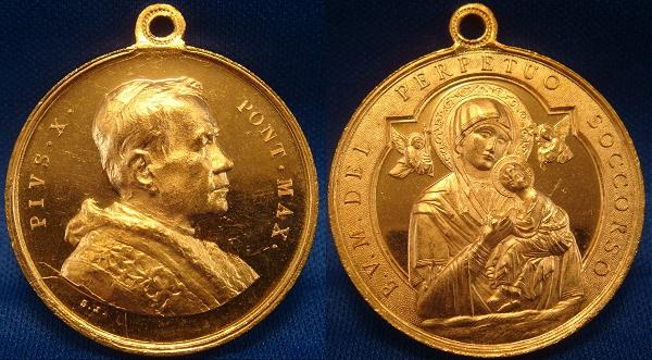 Pius X Our Lady of Perpetual Help Medal Photo