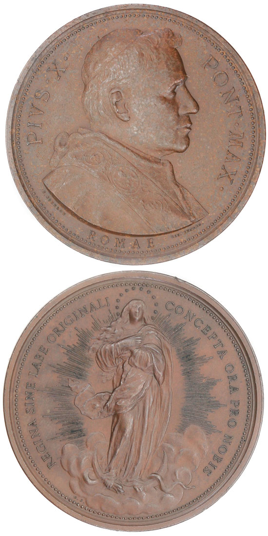 Pius X 1904 Immaculate Conception Medal Photo