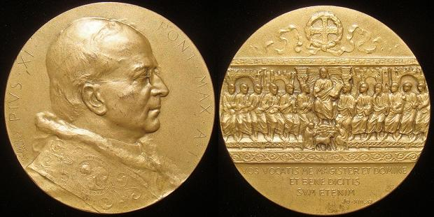 Pius XI 1922 Anno I Election Medal 67mm Photo