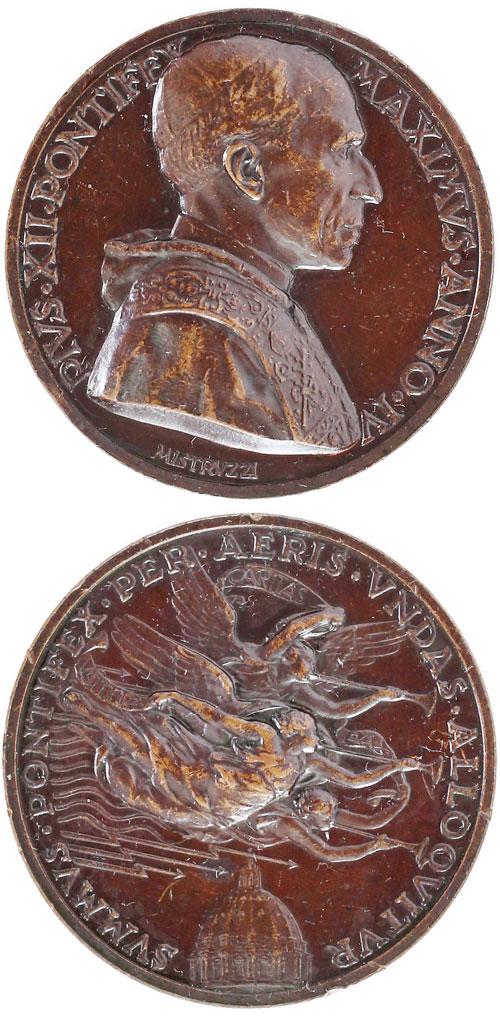 Pius XII (1939-58) A.IV Radio Address Ae Medal Photo