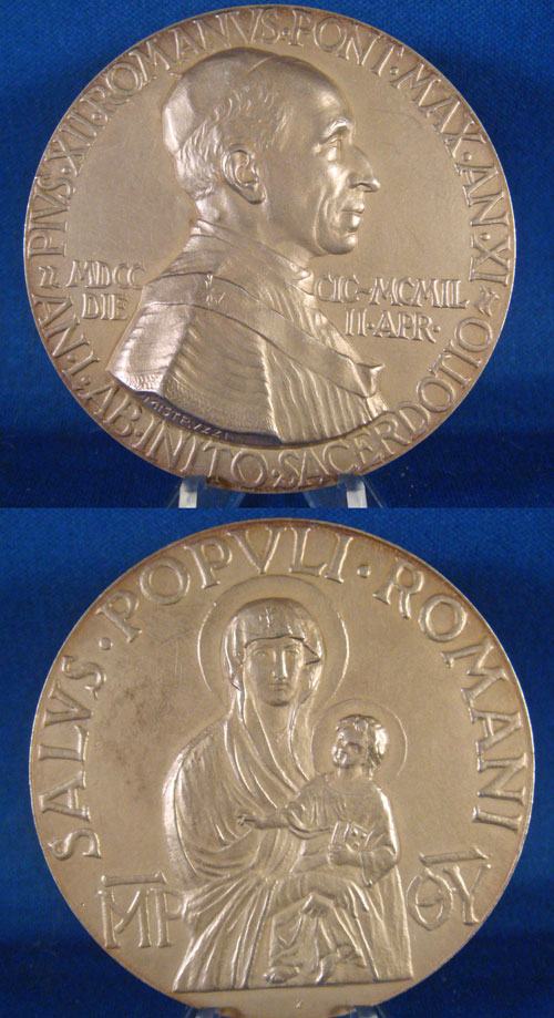 1949 Pius XII 50th Ann. of Priesthood 60mm WM Photo