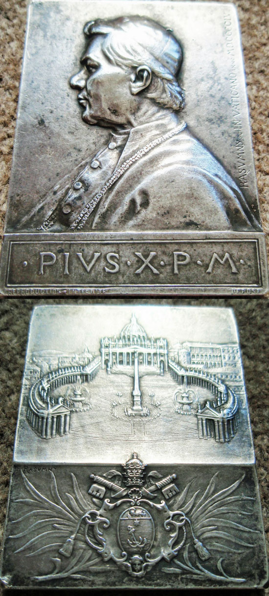1904 Pius X Plaquette 50x67mm Photo