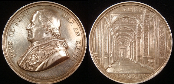 Pius IX 1868 Silver, The Raphael Loggias Photo