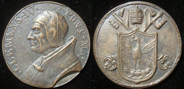 Clement IV (1265-8) Cast Bronze Medal Photo