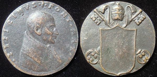 St. Zephyrinus (198-217) Cast Bronze Medal Photo