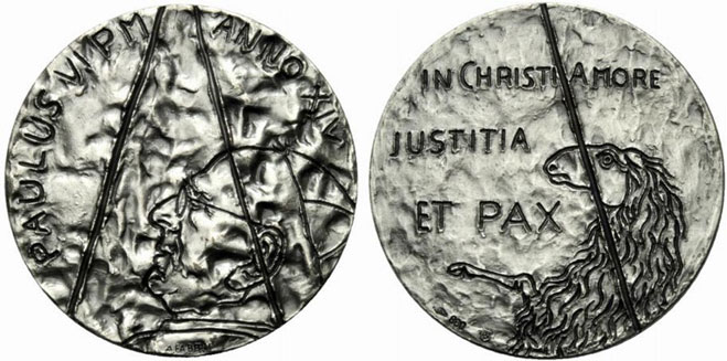 Paul VI (1963-78) Anno XIV Silver Medal Photo