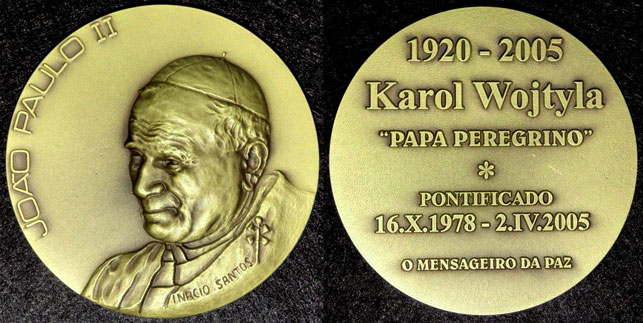 John Paul II 1978-2005 Portugal Medal 80mm Photo