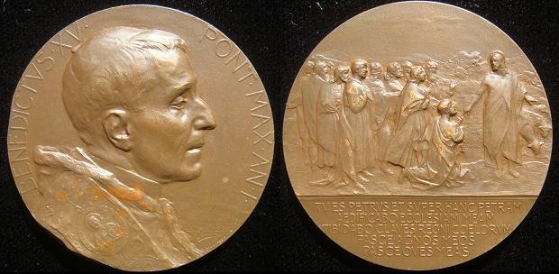 Benedict XV (1914-22) Anno I Bronze Dalcastagne Photo