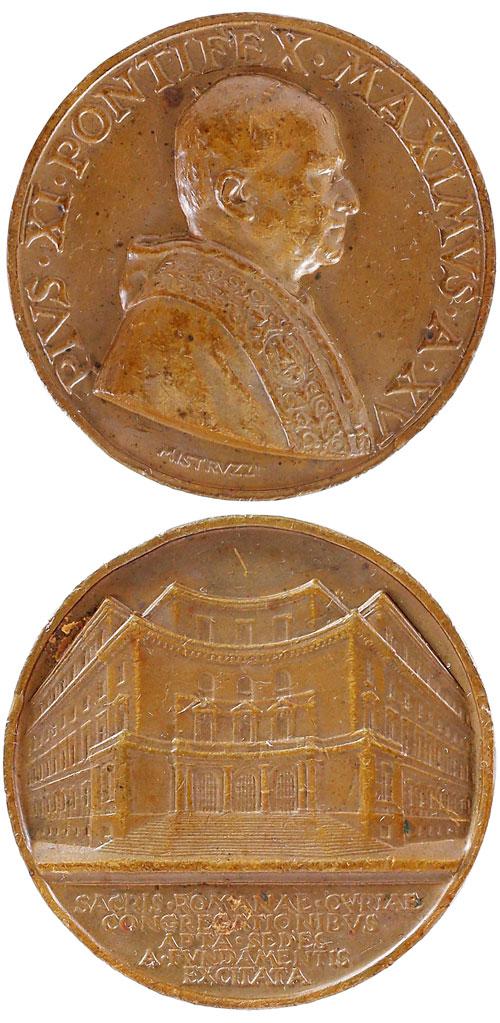 Pius XI (1922-39) Anno XV Roman Curia Medal Photo