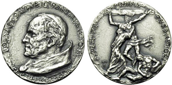 John Paul II Anno VI Silver Medal Photo