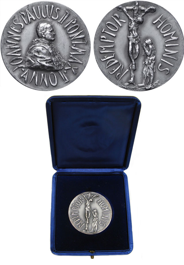 John Paul II Silver Medal A.II Redemptor Hominis Photo
