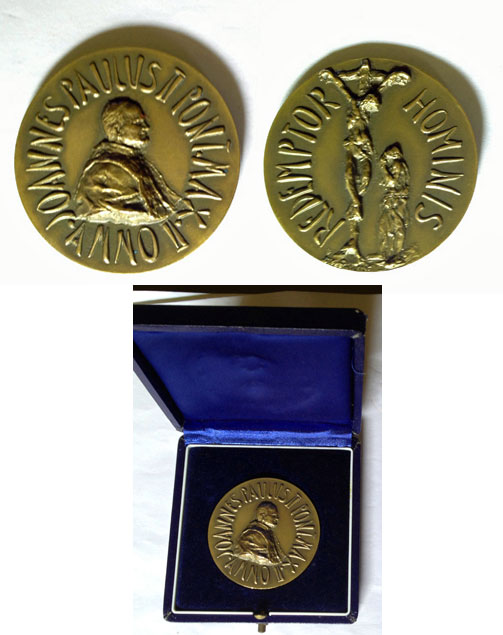 John Paul II Bronze Medal A.II Redemptor Hominis Photo