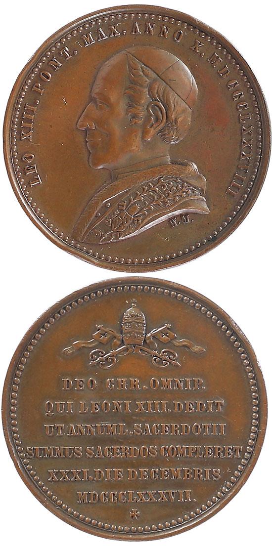 Leo XIII (1878-1903) Giubileo Sacerdotale 39mm Photo