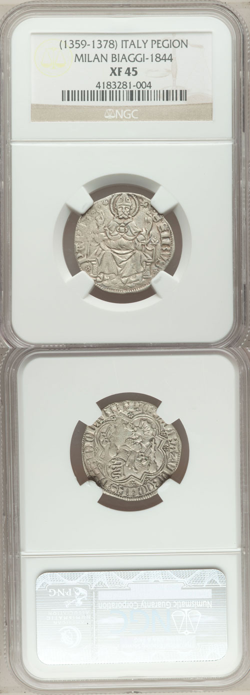 Pavia, Galeazzo II (1359-78), Syrus of Pavia Coin Photo