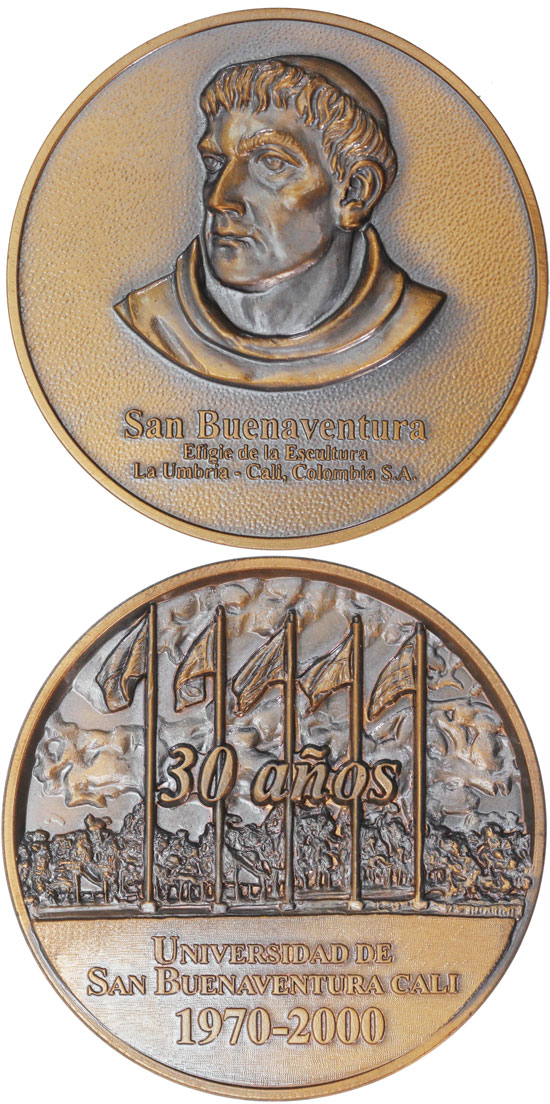 University St. Bonaventure 30th Ann. Medal 70mm Photo