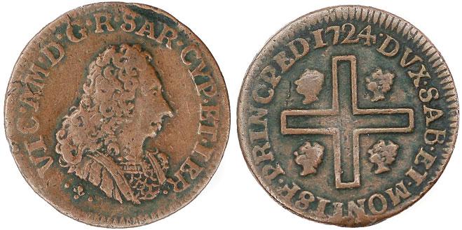 Italian States: Sardinia 1724 Cagliarese Photo