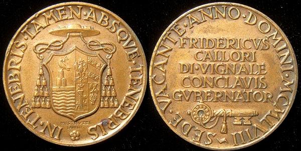 Sede Vacante 1958 Governor of Conclave Medal Photo