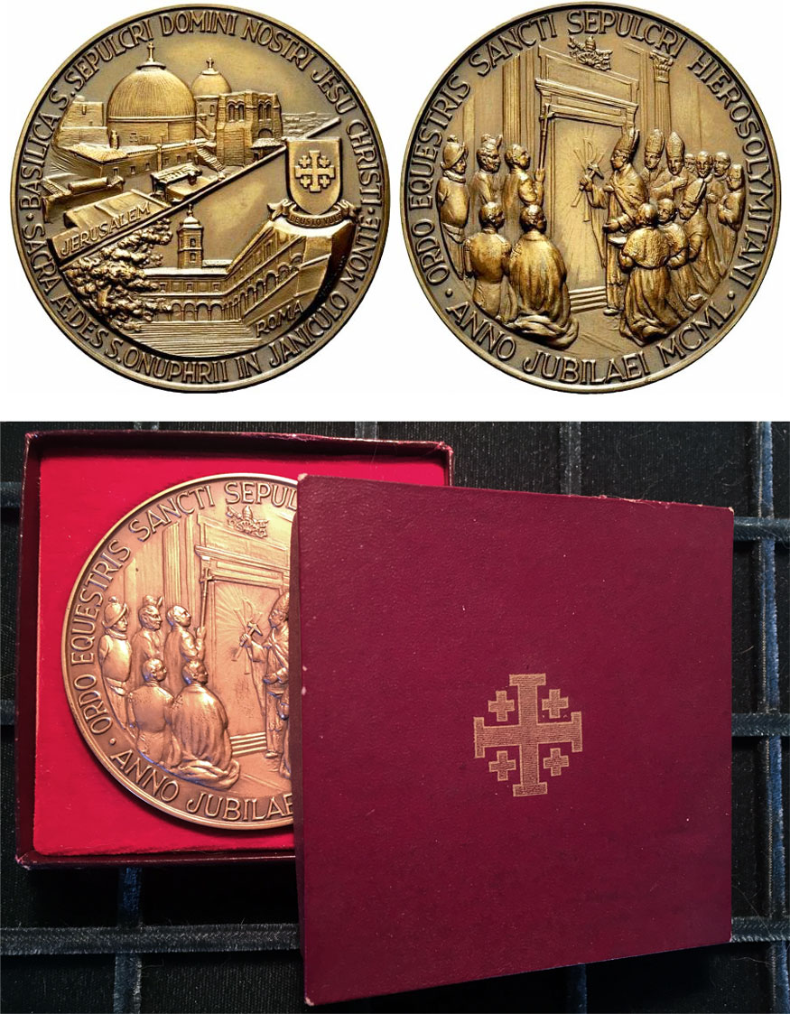Pius XII Order Holy Sepulchre Jerusalem Medal Photo