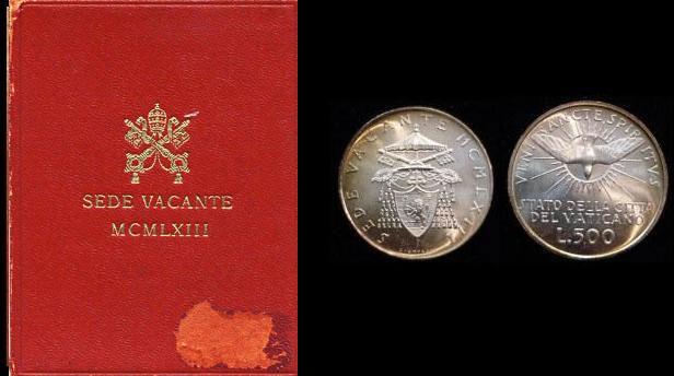1963 Vatican 500 Lire Sede Vacante Coin B/U Photo