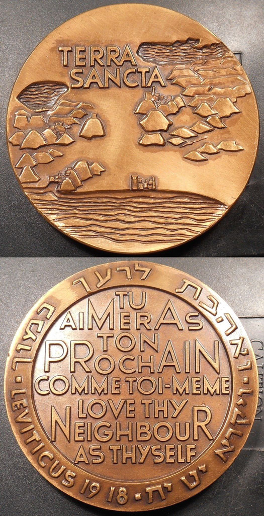 Israel State Medal 1963 Terra Sancta Photo