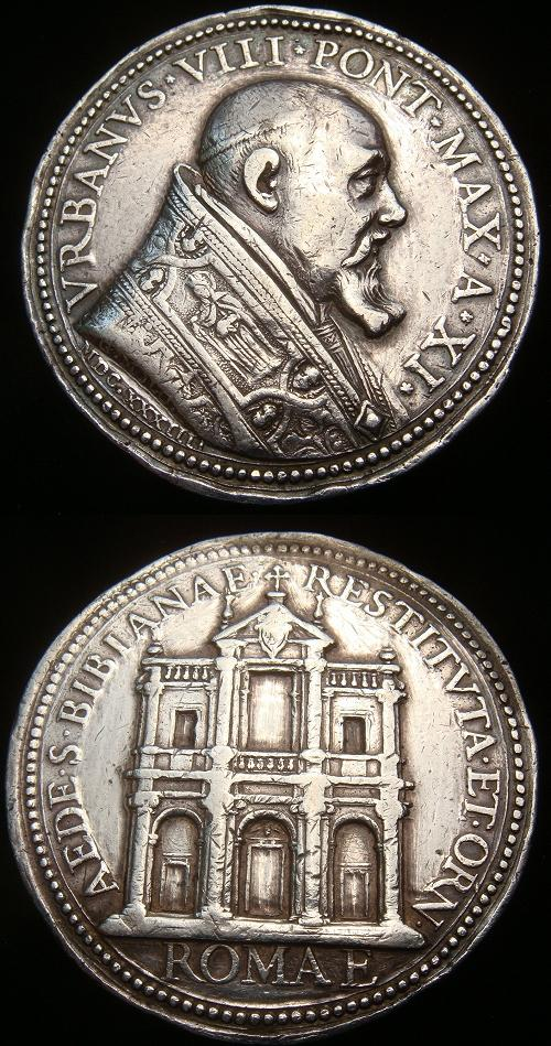 Urban VIII (1623-44) St. Bibiana's Church Ag Medal Photo