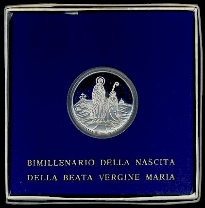 1984 Vatican 500 Lire Silver Virgin Mary Photo