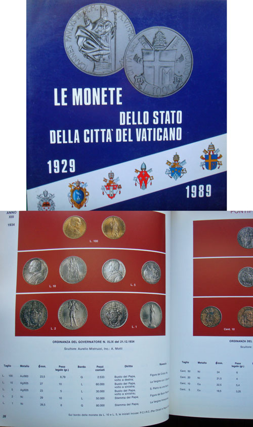 Monete Vaticano Catalog 1929-1989 Photo