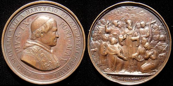 Pius IX 1867 Bronze Medal St. Donatus Photo