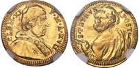 Clement XI 1716 Gold Half Scudo NGC MS62 Thumbnail