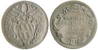 Clement XII 1733 Testone VF Thumbnail