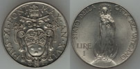 1937 Vatican 1 Lira VIRGIN MARY Coin Thumbnail