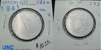 1941 Vatican 1 Lira VIRGIN MARY Coin Thumbnail