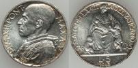 1943 Vatican 5 Lire Silver Coin BU Thumbnail