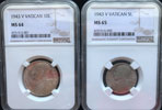 1943 Vatican 8 Coin Set NGC MS64-66 Thumbnail