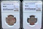 1943 Vatican 8 Coin Set NGC MS64-66 Thumbnail