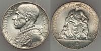 1944 Vatican 5 Lire Silver Coin UNC Thumbnail