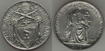 1945 Vatican 1 Lira Coin UNC Thumbnail