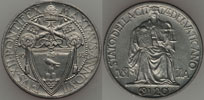 1945 Vatican 20 Centesimi Justice Coin UNC Thumbnail