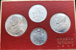 1947 Vatican Mint Set, 4 Coins UNC Thumbnail