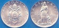 1951 Vatican 2 Lire Coin FORTITUDE Thumbnail