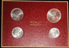 1952 Vatican Mint Coin Set, 4 Coins BU Thumbnail