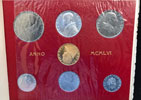 1956 Vatican Mint Set With 100 Lire Gold Coin BU Thumbnail