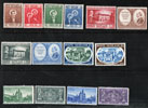 Vatican 1957 Stamp Year Set #219-32 Thumbnail