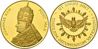 John XXIII 2nd Vatican Council Gold 50mm Thumbnail
